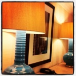 The Four Seasons Van style reminds me of a 60's-chic-Bond-type vibe I adore. Look at these fab lamps!