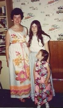Margaret Mahoney, left, my sister and I (shortest)